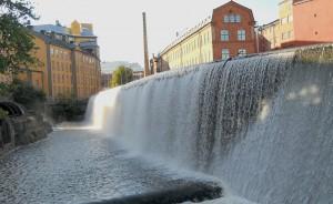 Imponerande vattenfall